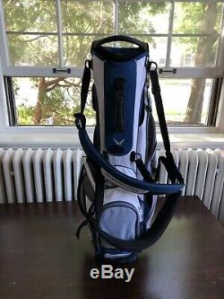 New Callaway Hyper Lite 3 Stand Carry Golf Bag (Blue-gray-white) Free Shipping