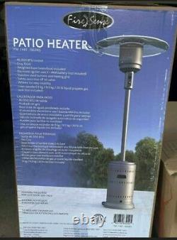 New Fire Sense 46,000 Btu Propane Patio Heater 46000 Btu Outdoor Ships Fast