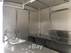 New Stainless Steel Concession Stand Trailer Mobile Kitchen Oven Ship By Sea