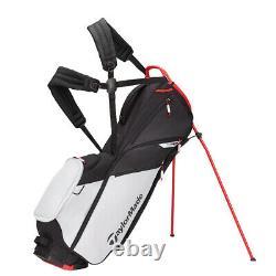 New Taylormade Flex Tech Lite Golf Bag Grey Cool / Red Stand Bag Free Ship