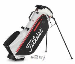 New Titleist 2020 Players 4 Plus Stand Bag White/Black/Red Free Shipping