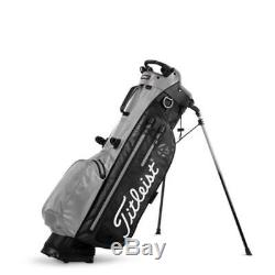 New Titleist 4Up StaDry Stand Golf Bag Black / Sleet (Gray) Free Shipping