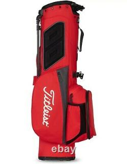 New Titleist Players 4 Stand Golf Bag Black and Red 2021 Free Shipping