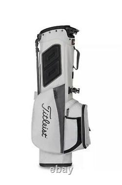New Titleist Players 4 Stand Golf Bag Black and White 2021 Free Shipping