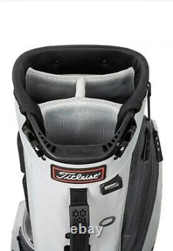 New Titleist Players 4 Stand Golf Bag Grey Black Trim 2021 Free Shipping