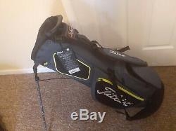 New Titleist Stand Bag 4 Plus Black/Charcoal $159 Free Shipping