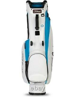 New Titleist Womens 4 Stand Golf Bag Blue and White 2021 Free Shipping