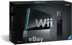 Nintendo Wii (RVL-S-KJ) Black Console FREE shipping Worldwide