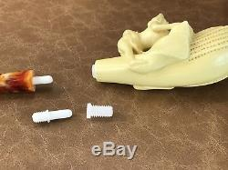 Nude Lady Block Meerschaum-NEW W CASE&Tamper&Stand#120 Free Shipping