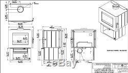 Osburn Soho WOOD STOVE 55,000 BTU OB01520 Free Standing Free Shipping