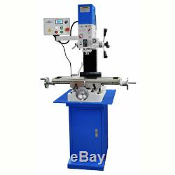 PM-727V VERTICAL BENCH TOP MILLING MACHINE WithSTAND VARIABLE SPEED FREE SHIPPING