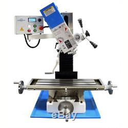 PM-727-V VERTICAL BENCH TOP MILLING MACHINE withSTAND VARIABLE SPEED FREE SHIPPING