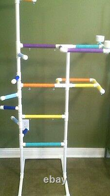 PVC Parrot Play Gym MAX FLOOR PERCH \ Stand FREE SHIPPING