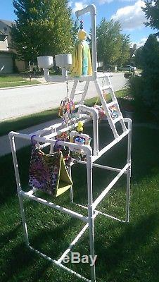 PVC Parrot Play Stand Our LARGER FLOOR PERCH FREE SHIPPING Birds Love Them