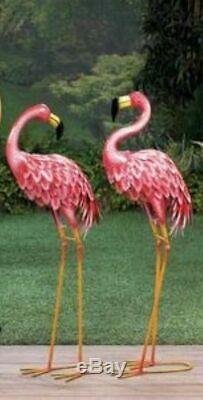 Pair of BRIGHT STANDING PINK FLAMINGOS, FREE SHIPPING