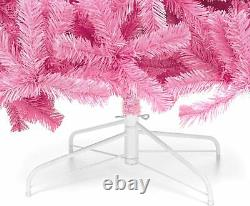 Pink Christmas Tree 6 ft 1477 Branch Tips Foldable Stand Eye Catcher FREE Ship