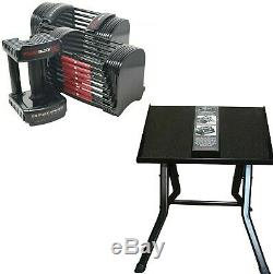 PowerBlock Sport 50 lb Adjustable Dumbbell Set Pair with Stand SHIPS FREE