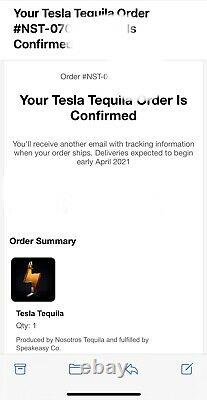 PreOrder TESLA TEQUILA BOTTLE (empty) with Stand COLLECTIBLE FREE SHIPPING