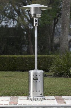 Propane 46,000 BTU Outdoor Patio Heater Stainless SteelFREE FAST SHIPPING