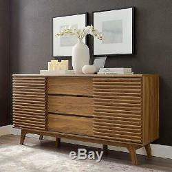 Rander 63 Mid Century Sideboard Buffet Table or TV Stand Walnut free shipping