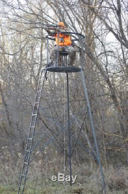 Rotating Tripod Deer Stand 15' Woodsman Deer Hog Archery Steel Free shipping