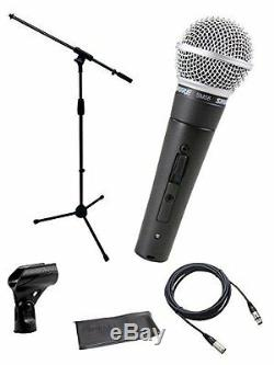 ShureSM58-S+STAND+CABLEMicrophone Bundle Boom Stand & XLR Cable FREE SHIP