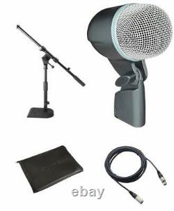 Shure BETA 52A Dynamic Kick Drum Microphone +Cable and Mini Boom Stand FREE SHIP