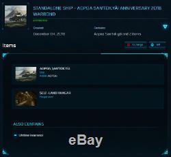 Star Citizen Standalone Ship Aopoa San tok yi Warbond LTI (original)