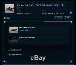 Star Citizen Standalone Ship C2 Hercules Anniversary 2018