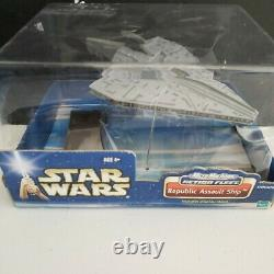 Star Wars Micro Machines Action Fleet Republic Assault Ship Includes Stand