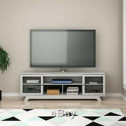 TV Entertainment Stand For TVs Up To 80 Shelves Cabinet Media NEW Free Ship