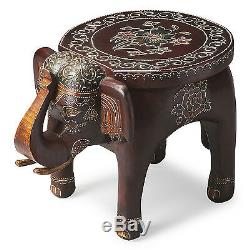 Tables Handcarved Elephant Accent Table Plant Stand Free Shipping