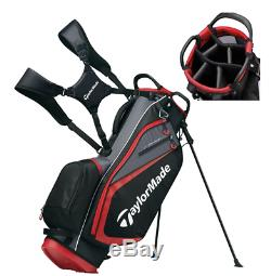 TaylorMade Golf Select Stand Bag (Black/Red) 2019 Free Shipping Only Five Lbs