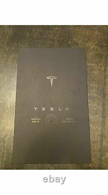 Tesla Tequila Empty Bottle + Stand + Box Limited Tequilla In Hand Fast Ship