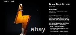 Tesla Tequila Empty Bottle & Stand Only. Collectors Item Pre-Sale FREE SHIP