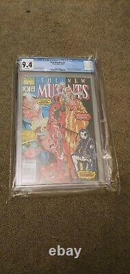 The New Mutants #98 NEWS STAND CGC 9.4 WHITE PAGES FREE SHIPPING