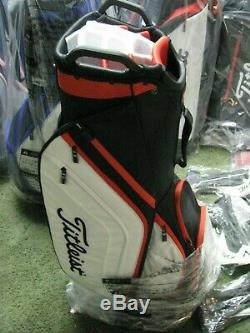 Titleist 2019 Golf Cart Bag 14 Way Top Black/White/Red NEW withTAGS FREE SHIP