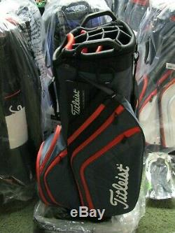 Titleist 2019 Golf Cart Bag 14 Way Top Charcoal/Black/Red NEW withTAGS FREE SHIP