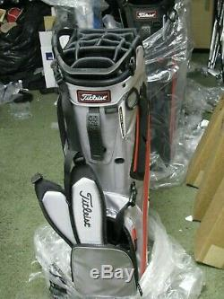Titleist Hybrid 14 Stand Golf Bag Silver/White/Red NEW withTAGS FREE SHIP
