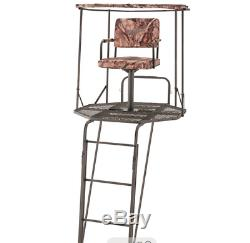 Tree Stand Double Rail 20 Feet Ladder 360 Swivel & Shooting Rest Free Shipping