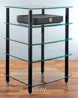 VTI AGR405 Glass Audio Rack 5 shelves, New, Free Ship