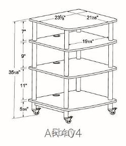 VTI AR404 AudioPhile 4 shelves Rack, Brand New, Free Ship