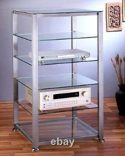 VTI EGR406 Glass Audio Rack 6 shelves, New, Free Ship