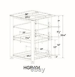 VTI HGR404 Glass AudioPhile Rack, Brand New, Free Ship