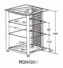 VTI RGR404 Glass AudioPhile Rack, Brand New, Free Ship