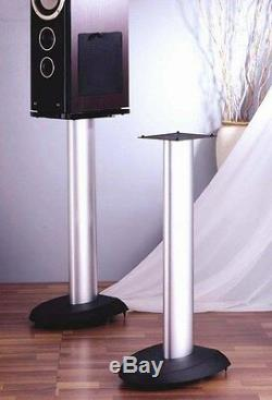 VTI VSP29SB Pair Speaker Stands, 29 Black/Silver, Brand New, Free Ship
