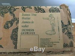 Vtg Bombay Company JAMES The BUTLER Stand End Table Serving Tray NEW Free Ship