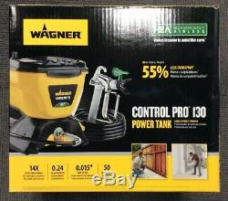 Wagner Control Pro 130 Power Tank Airless Stand Paint Sprayer New, Free Ship