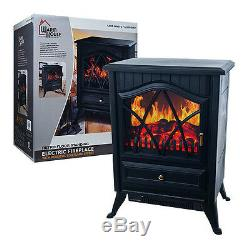 Warm House Retro Floor-Standing Electric Fireplace Free Shipping