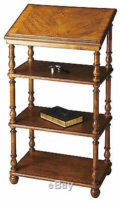Westwood Library Stand Bookcase Vintage Oak Finish Free Shipping